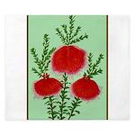 String Bell Vintage Flower Print King Duvet