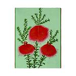 String Bell Vintage Flower Print Twin Duvet