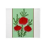 String Bell Vintage Flower Print Throw Blanket