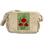 String Bell Vintage Flower Print Messenger Bag
