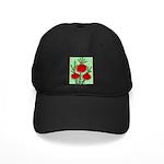 String Bell Vintage Flower Print Baseball Hat
