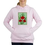 String Bell Vintage Flower Print Women's Hooded Sw