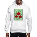 String Bell Vintage Flower Print Hoodie Sweatshirt