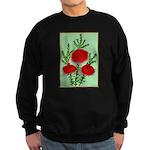 String Bell Vintage Flower Print Sweatshirt