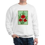 String Bell Vintage Flower Print Sweater