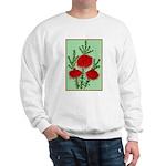 String Bell Vintage Flower Print Sweater