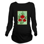 String Bell Vintage Flower Print Long Sleeve Mater