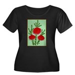 String Bell Vintage Flower Print Plus Size T-Shirt