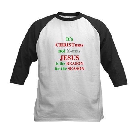Christmas not XMAS Kids Baseball Jersey
