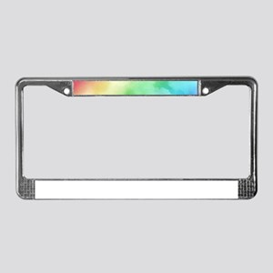 Rainbow Watercolors License Plate Frame