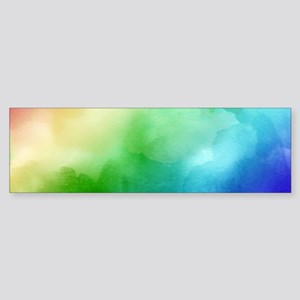 Rainbow Watercolors Bumper Sticker