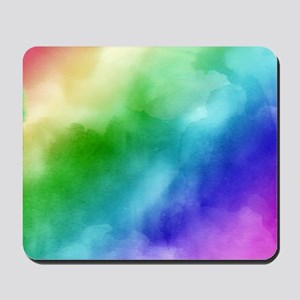 Rainbow Watercolors Mousepad