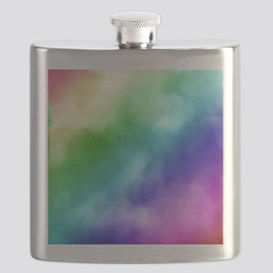 Rainbow Watercolors Flask