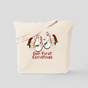 Our First Christmas TWINS Bab Tote Bag