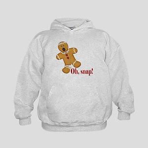 Oh Snap! Gingerbread Man Kids Hoodie