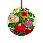 Chinese Lantern Vintage Flower Print Round Ornamen