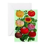 Chinese Lantern Vintage Flower Print Greeting Card
