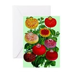 Chinese Lantern Vintage Flower Print Greeting Card