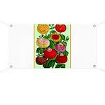 Chinese Lantern Vintage Flower Print Banner