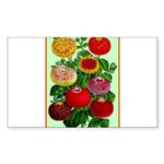 Chinese Lantern Vintage Flower Print Sticker