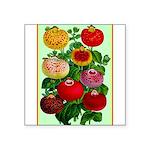 Chinese Lantern Vintage Flower Print Sticker