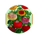 Chinese Lantern Vintage Flower Print Button