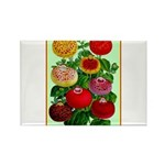 Chinese Lantern Vintage Flower Print Magnets