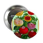 "Chinese Lantern Vintage Flower Print 2.25"" Button"