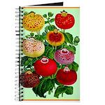 Chinese Lantern Vintage Flower Print Journal