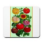 Chinese Lantern Vintage Flower Print Mousepad