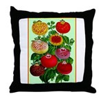 Chinese Lantern Vintage Flower Print Throw Pillow