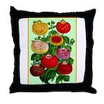 Chinese Lantern Vintage Flower Print Throw Pillow