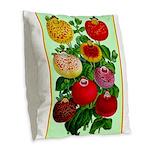 Chinese Lantern Vintage Flower Print Burlap Throw