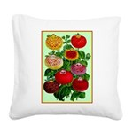 Chinese Lantern Vintage Flower Print Square Canvas