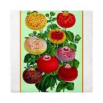 Chinese Lantern Vintage Flower Print Queen Duvet