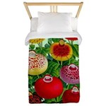 Chinese Lantern Vintage Flower Print Twin Duvet