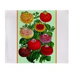 Chinese Lantern Vintage Flower Print Throw Blanket