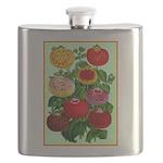 Chinese Lantern Vintage Flower Print Flask