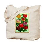 Chinese Lantern Vintage Flower Print Tote Bag
