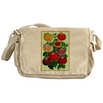 Chinese Lantern Vintage Flower Print Messenger Bag