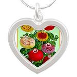 Chinese Lantern Vintage Flower Print Necklaces