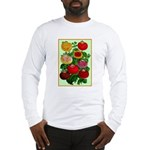 Chinese Lantern Vintage Flower Print Long Sleeve T
