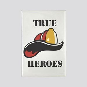 Firefighter True Heroes Rectangle Magnet