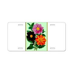 Colorful Flowers Vintage Poster Print Aluminum Lic