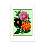 Colorful Flowers Vintage Poster Print Poster Print