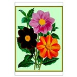 Colorful Flowers Vintage Poster Print Poster