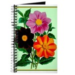Colorful Flowers Vintage Poster Print Journal