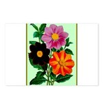Colorful Flowers Vintage Poster Print Postcards (P