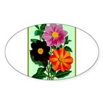 Colorful Flowers Vintage Poster Print Sticker