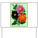 Colorful Flowers Vintage Poster Print Yard Sign